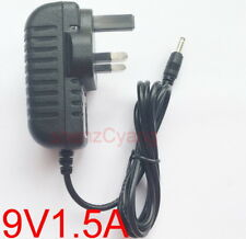 UK plug DC 9V 1.5A Switching Power Supply cord Adaptor 1500mA DC 3.5mm x 1.35mm