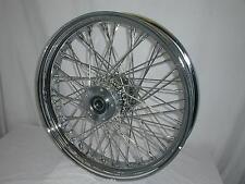 Harley 60 Spoke Chr Billet 18x3.5 Frnt Wheel FL Dual 2000-15 Touring Ride-Wright