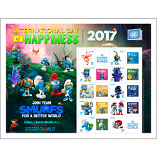 2017 UNITED NATIONS  - PERSONALIZED  SHEET - SMURFS - VIENNA SHEET-MINT NH #598