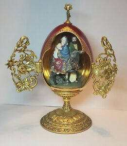 """The House of Faberge Franklin Mint """"The Flight Into Egypt"""" Collector Egg"""