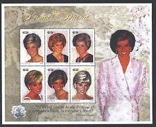 GUYANA 3234-36 SG5137-42,MS5143 MNH 1997 Princess Diana Sheet of 6+2MS Cat$18
