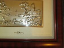 "EXQUISITE .925 Sterling Silver Castellani ACCA Paesaggia Framed 14"" x 18"", Boxed"