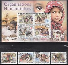 Burundi 926-30 Lions Club, Rotary International, Red Cross and UNICEF Mint NH