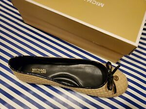 New MICHAEL Kors  melody quilted nude flat women shoes sz 9M ballet flat