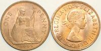 1961 to 1967 Elizabeth II Bronze Penny Your Choice of Date  / Year Multibuy
