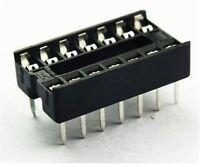 100Pcs Sockets Adaptor 14 Pin DIP14 Solder Type Ic New op