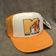 MTV Music Television Trucker Hat Vintage Style Mesh Snapback Yellow Cap 2260