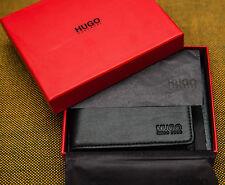 Hugo Boss Men's Black Leather Wallet Dollar 8 CC Bi-fold Style 50311969