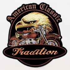 Biker American Classic Eagle Adler Kopf USA Aufbügler Aufnäher Patch Backpatch