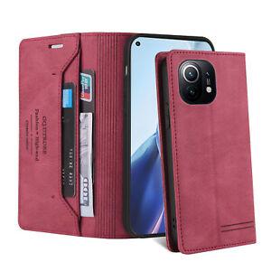 Für Xiaomi Mi 11 Hülle Handyhülle Magnetische Leder Flip Card Slots Kickstand