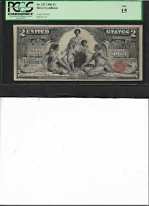 SILVER CERTIFICATE Fr. 247 1896 $2 Silver Certificate Fine 15