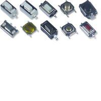 10 Mikrotaster Druck Taster push Button Mikro Micro Schalter SMD versch. Größen