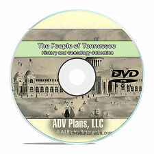 Tennessee TN, People & Civil War History and Genealogy 245 Books DVD CD B16