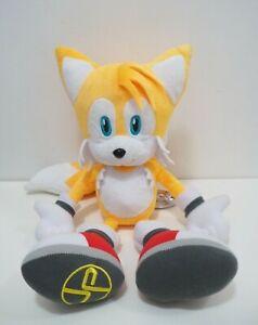 "TAILS Sonic The Hedgehog TAG Tokyo Joypolis SEGA Jumbo Plush 16"" Doll Japan"