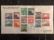 1944 Manila Japan Occupation Philippines Cover Domestic Used Comp Set