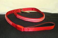 NEW BRIGHT RED DOUBLE LED LIGHT UP PET DOG SAFETY LEASH FOR WALKING AT NIGHT