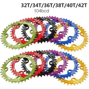 SNAIL Chain Ring 104mm BCD Chainring 32T - 42T Bike Narrow Wide Oval Round Tooth