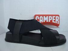 Camper atonik K200802 008 Negro Cuero Charol Sandalias de cruce señoras