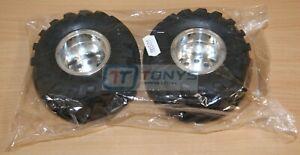 Tamiya 58242 Wild Willy 2/Mad Bull, 9805619/19805619 Rear Tire & Wheel (2 Pcs.)