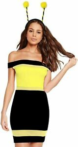 Womens Adult Sexy Cute BUMBLE BEE Costume Outfit