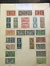 STAMPS 1900+ FRANCE & COLONIES MINT & USED PAIRS    #199