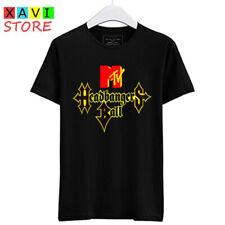 Headbangers Ball Music Logo Hard Rock Men's Black Tees T-Shirt Size S-3XL