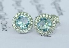 2ct Round Cut Stud Earrings in 14k White Gold Plated