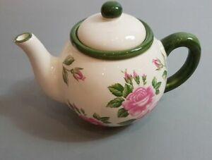 gemütliche Landhausstil Rosenkanne Teekanne um 1960/70 VINTAGE