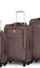 It Luggage Mandalay 4 Wheel Textile Large Spinner Suitcase Brown Medium (61cm)