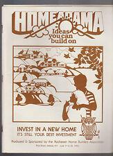 Rochester NY Homearama Program 1983 House Construction