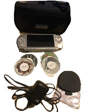 Sony PSP 3000 Mystic Silver Handheld System with 4 Games and PSP Carrying Case