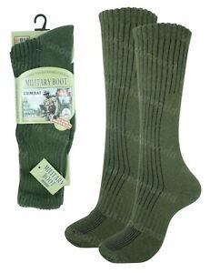 Mens Military Socks 1 Pair Long Thick Thermal Hiking Walking Army Combat Boots
