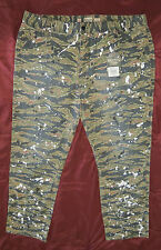 BORN FLY - Camo Print Long Pants SIZE 38 (Camouflage/paint spots) FREE SHIPPING