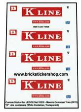 Precut Custom Stickers voor Lego Set 10219 - Maersk Train - K-Line Containers