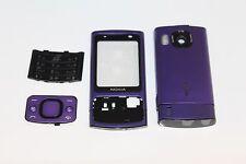 CARCASA Tapa Estuche + Medio Chasis Facia Para Nokia 6700 Slide púrpura