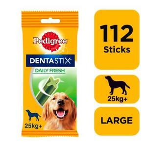 112 Pedigree Daily Dentastix Fresh Dental Sticks Dog Treats Large Dog Chews