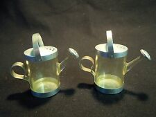 Vintage Clear Acrylic Watering Can Salt and Pepper Shakers Dart Craftsman NY