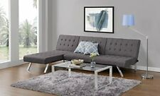 Modern Convertible Sofa Bed - Adjustable Futon Lounger - Dorm Sleeping Couch