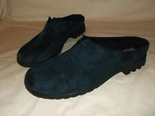 Munro women's navy blue suede shoes with rubber sole mules slides 9.5 M