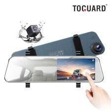 "5"" HD 1080P Dual Lens Car DVR Dash Cam Video Camera Recorder Rearview Mirror US"