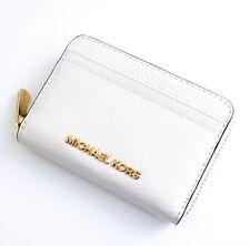Michael Kors portemonnaie geldbörse jet set travel zip aurond leder vanilla neu