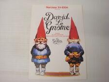 Prospectus ancien catalogue dessin animé David le Gnome  FR3 1986 Poortuliet