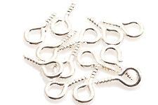 Metal Small Tiny Mini Screw Eye Pins Eye pins Hooks Eyelets Threaded Hardware
