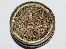 ANCIENNE BOITE RELIQUAIRE RELIQUES ET PAPEROLLES GRAVURE IL MABADONNE XVIII e