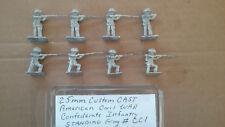 25mm Custom Cast American Civil War Confederate Infantry Standing - Firing