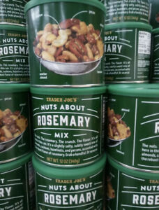 2x Trader Joe's Nuts About Rosemary Mixed Nuts 12 oz Each • Kosher • Delicious!