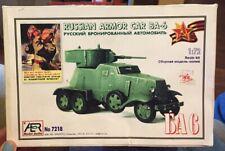 AER MODEL STUDIO 1/72 7218 RUSSIAN ARMOR CAR BA6 Resin Kit