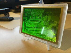 1994 Blockbuster Video Tiger Stadium Detroit 3D Laser Hologram Baseball Card