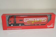 V 1:87 HERPA IVECO ET HD TRUCK WITH TRAILER WEICHERS SPORT MINT BOXED