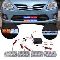 Amber 4 X 22LED Car Truck Strobe Flash Emergency Flashing Warning Lights New